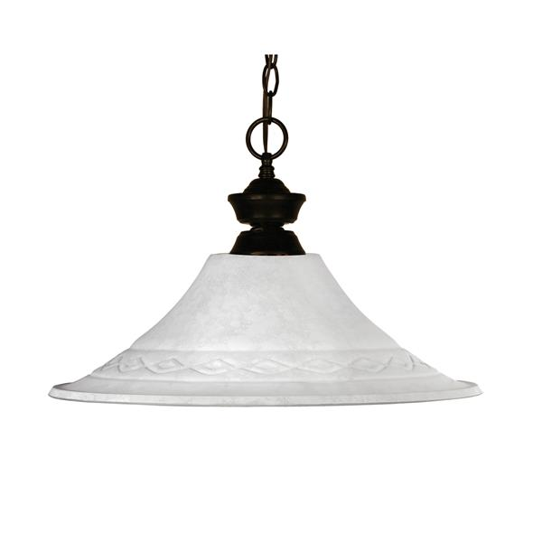 Z-Lite Howler 1-Light Pendant - 16-in - Glass - White