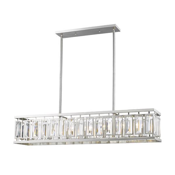 Z-Lite Mersesse 7-Light Billard Light - 44-in - Nickel