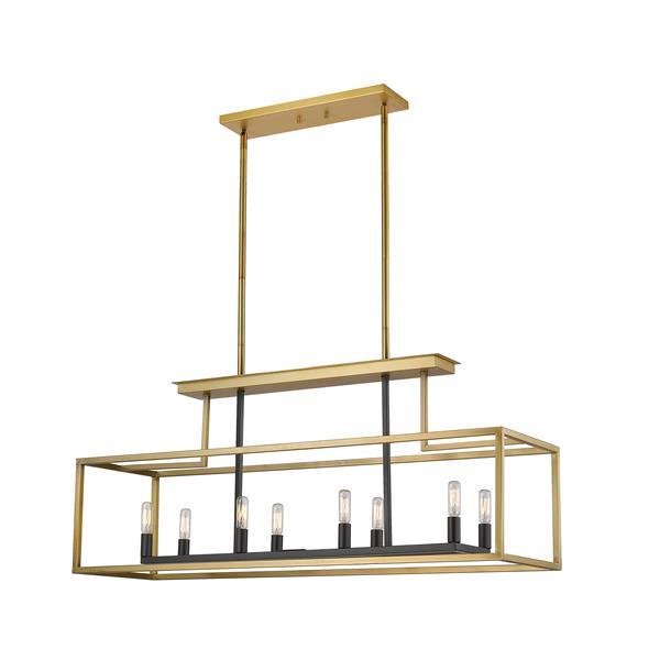 Z-Lite Quadra 8-Light Billard Light - 40-in - Brass