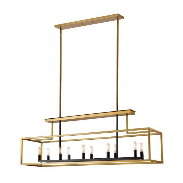 Z-Lite Quadra 10-Light Billard Light - 50-in - Brass