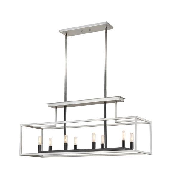 Z-Lite Quadra 8-Light Billard Light - 40-in - Nickel/Black