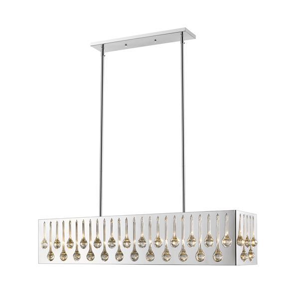 """Luminaire de billard Oberon, 7 lumières, 43"""", chrome"""