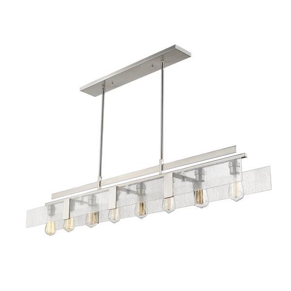 Z-Lite Gantt 8-Light Billard Light - 58.88-in - Nickel