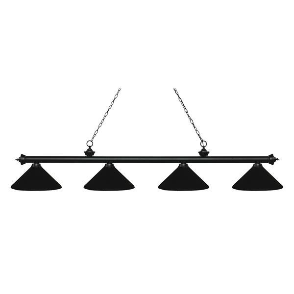 Z-Lite Riviera 4-Light Billard Light - 80.75-in - Black