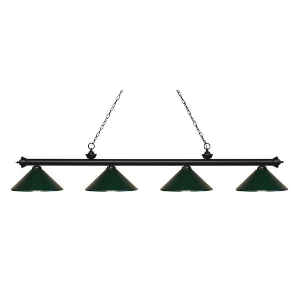 Z-Lite Riviera 4-Light Billard Light - 80.75-in - Dark Green