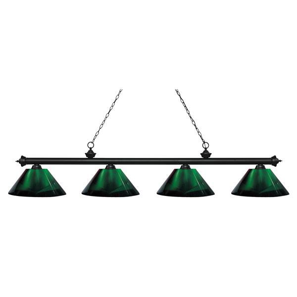 Z-Lite Riviera 4-Light Billard Light - 80.75-in - Green
