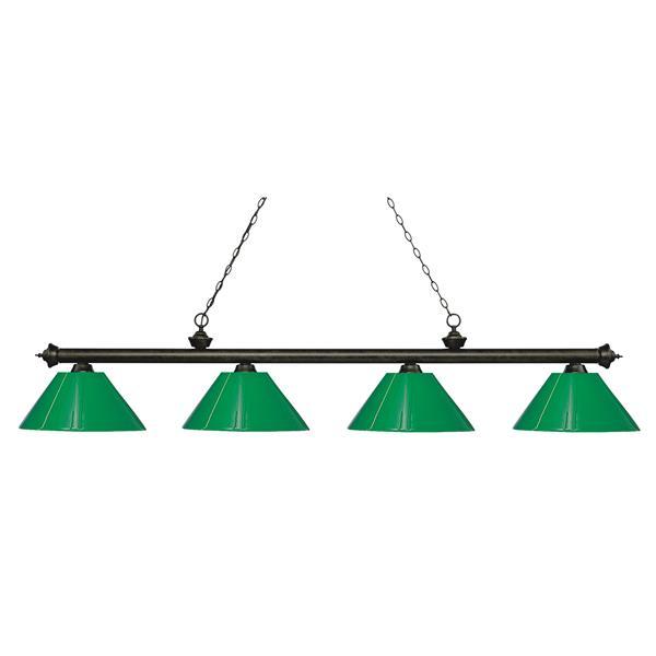"Luminaire de billard Riviera, 4 lumières, 80,5"", bronze"