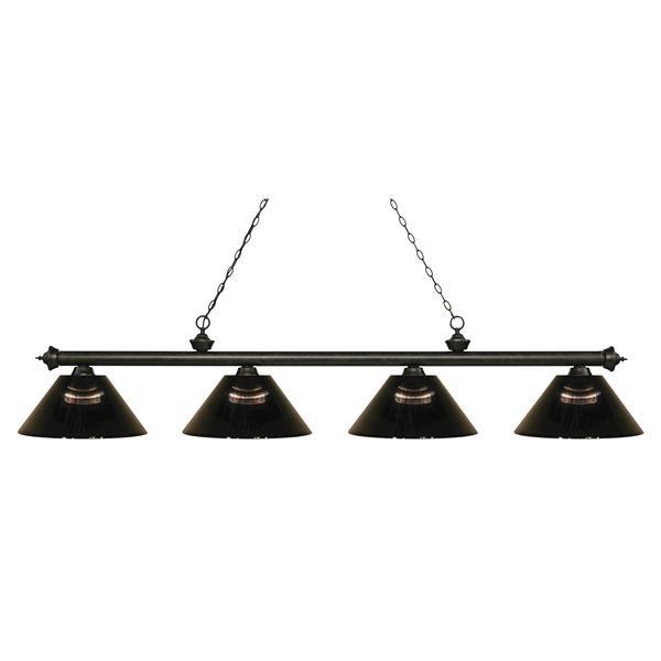 "Luminaire de billard Riviera, 4 lumières, 80,75"", bronze"