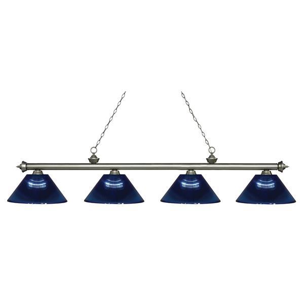 "Luminaire de billard Riviera, 4 lumières, 80,75"", bleu foncé"