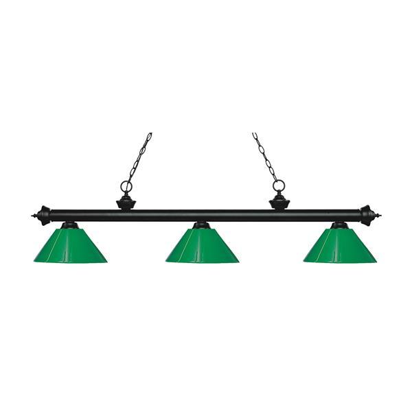 "Luminaire de billard Riviera, 3 lumières, 57"", vert"
