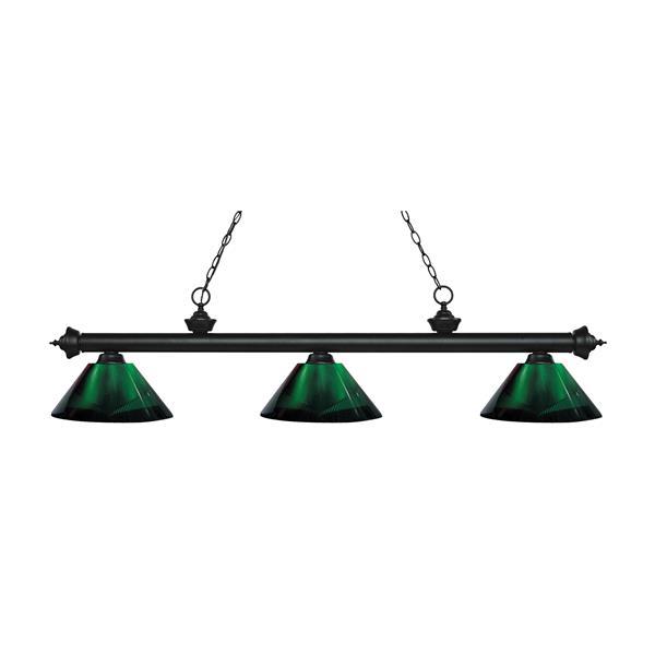 "Luminaire de billard Riviera, 3 lumières, 57,5"", vert"