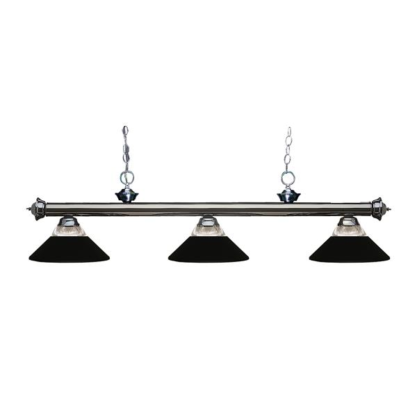 Z-Lite Riviera 3-Light Billard Light - 57-in - Metal - Black