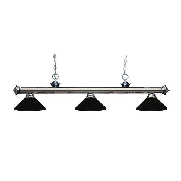 Z-Lite Riviera 3-Light Billard Light - 57-in - Metal - Black