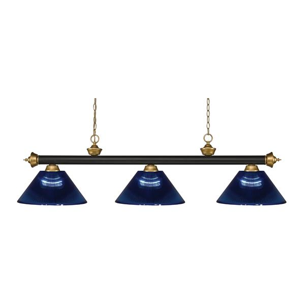 "Luminaire de billard Riviera, 3 lumières, 57"", bleu foncé"