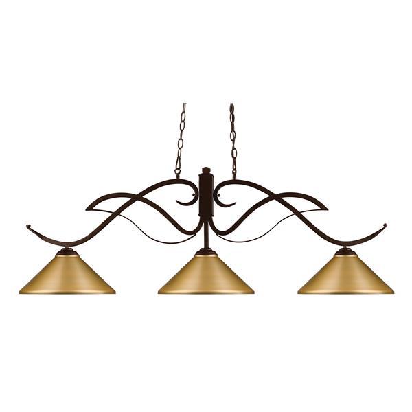 Z-Lite Phoenix 3-Light Pendant - 52-in - Gold