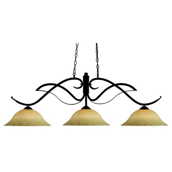 Z-Lite Phoenix 3-Light Pendant - 54-in - Bronze
