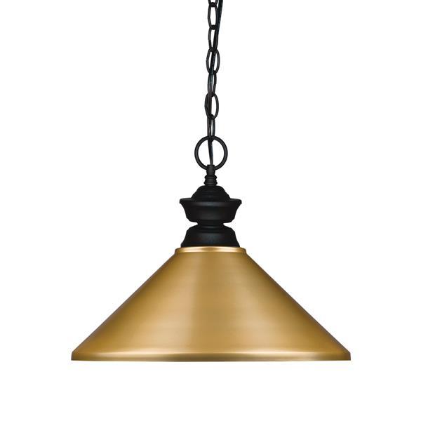 Z-Lite 1-Light Pendant - 14-in - Metal - Gold