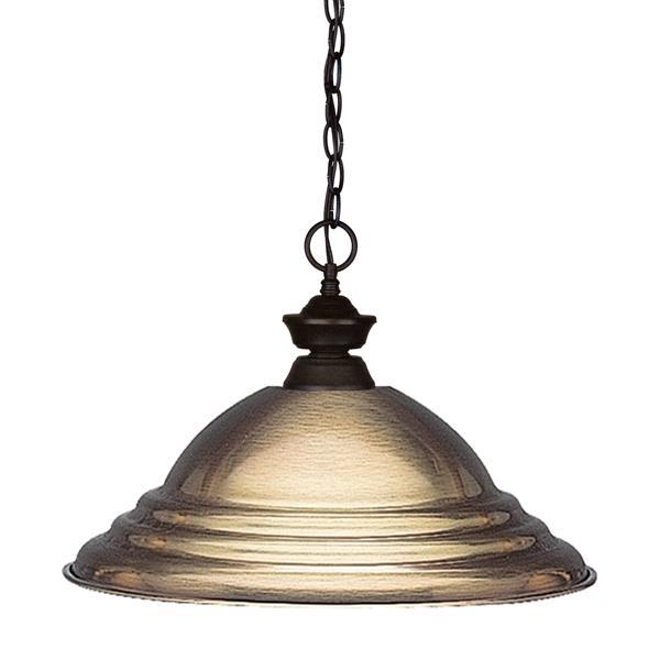 Z-Lite Shark 1-Light Pendant - 15.75-in - Metal - Bronze