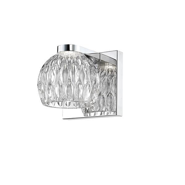 Z-Lite Laurentian 1-Light Wall Sconce - 4.72-in - Steel - Chrome