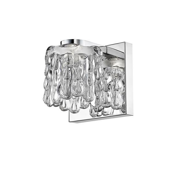 Z-Lite Tempest 1-Light Wall Sconce - 4.72-in - Steel - Chrome