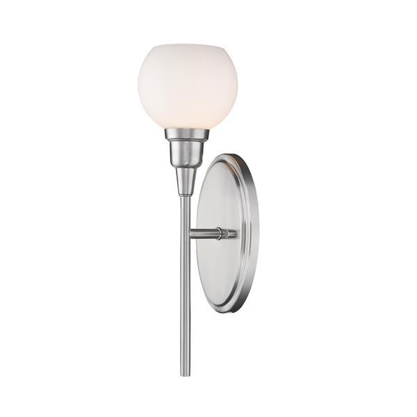 Z-Lite Tian 1-Light Wall Sconce - 16-in - Steel - Nickel