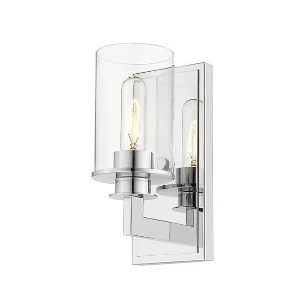 Z-Lite Savannah 1-Light Wall Sconce - 10.25-in - Steel - Chrome