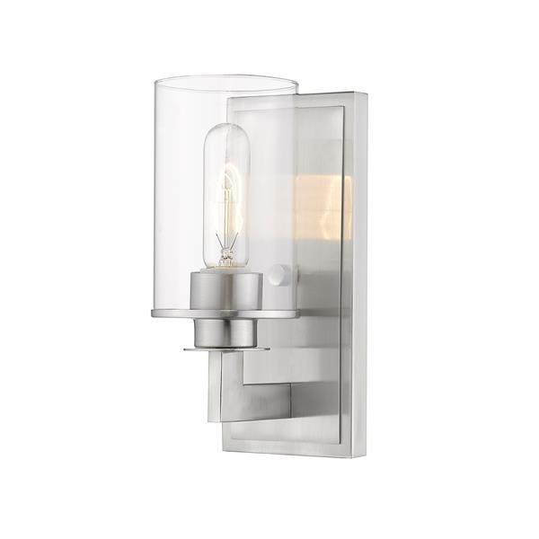 Z-Lite Savannah 1-Light Wall Sconce - 10.25-in - Steel - Nickel