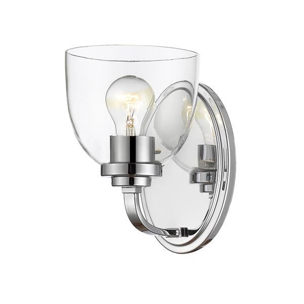 Z-Lite Ashton 1-Light Wall Sconce - 8-in - Steel - Chrome