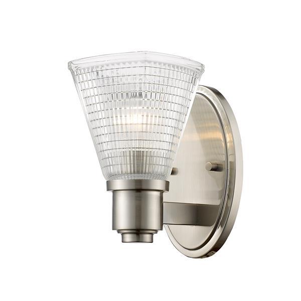 Z-Lite Intrepid 1-Light Wall Sconce - 8.5-in - Steel - Nickel