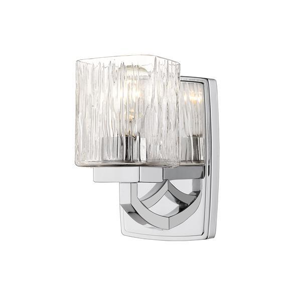 Z-Lite Zaid 1-Light Wall Sconce - 8.25-in - Steel - Chrome