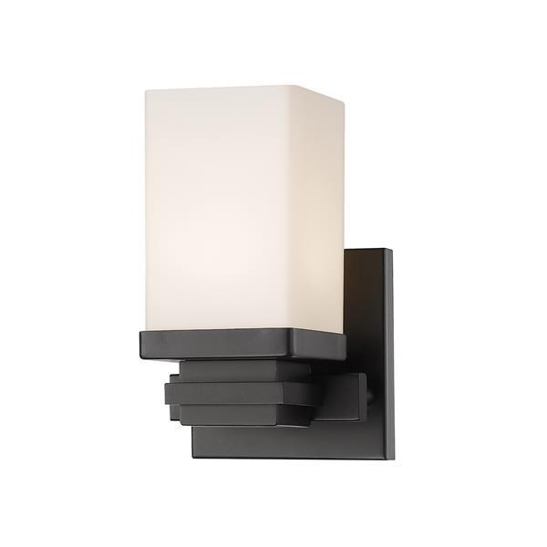 Z-Lite Avige 1-Light Wall Sconce - 7.7-in - Steel - Bronze