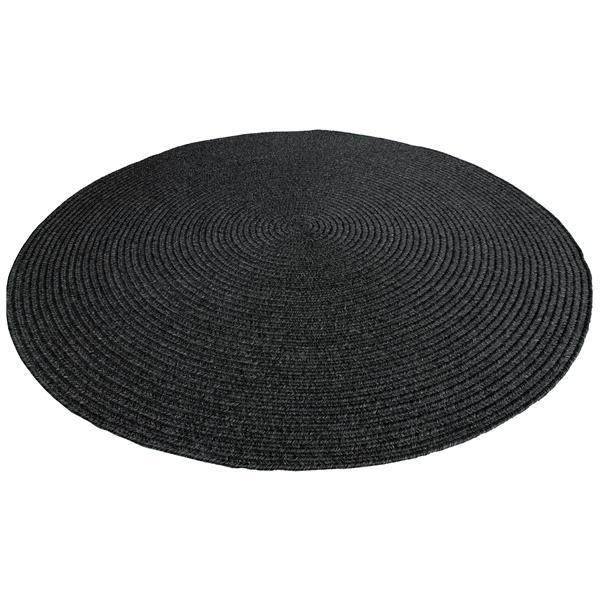"""Tapis d'extérieur oval, 39,3"""", polypropylène, charbon"""