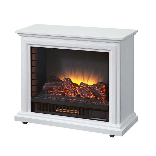 Foyer électrique Sheridan avec 5 niveaux de chaleur, blanc