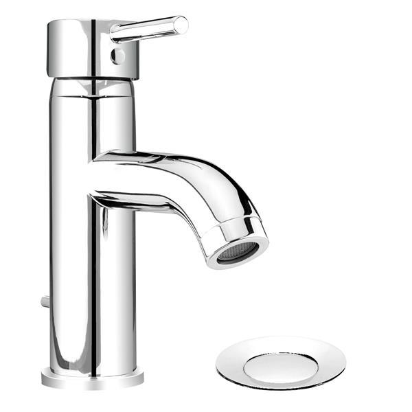 "Bathroom Sink Faucet - Polished Chrome - 7.5"""