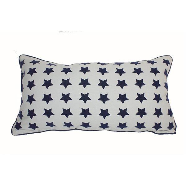 """Coussin décoratif «Stars», 14"""" x 26"""", muticolore"""