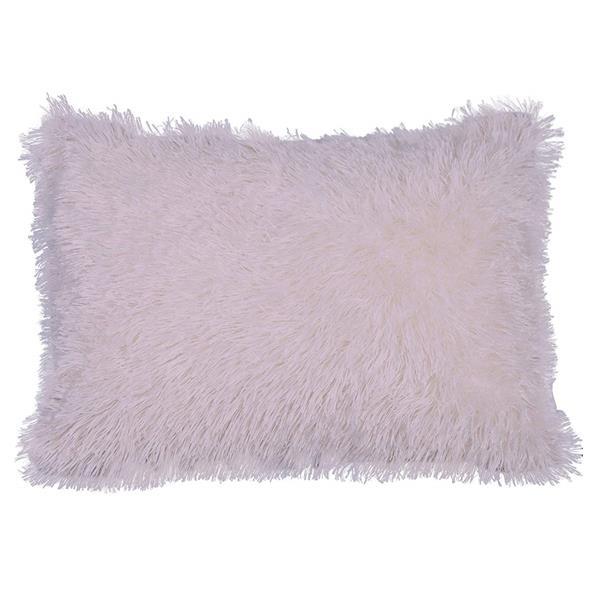 """Coussin décoratif à poil long, 14"""" x 20"""", lilas"""