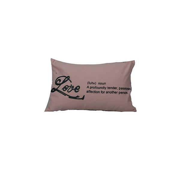 """Coussin décoratif «Typo Love», 14"""" x 20"""", rose"""