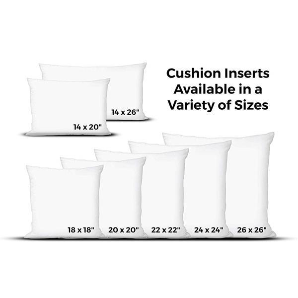 Insert de coussin en bourre de polyester, 20 po x 20 po, blanc