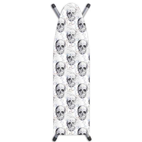 """Housse de planche à repasser «Skulls», 15"""" x 54"""", blanc"""