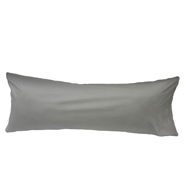 Housse pour oreiller de corps, 21 po x 55 po, argent