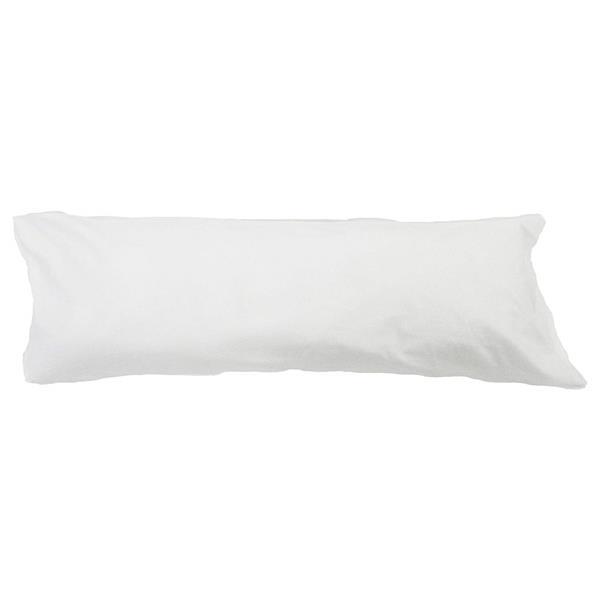 Housse pour oreiller de corps, 21 po x 55 po, blanc