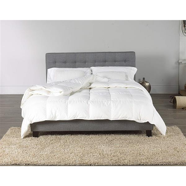 Couette légère en duvet d'oie canadien , lit simple, blanc