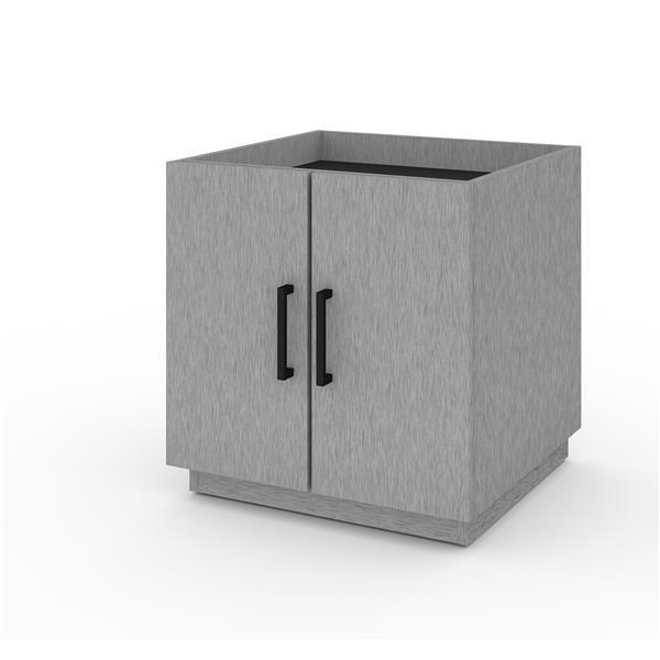 Bestar Lincoln Stackable Storage Cabinet - Silver Grey