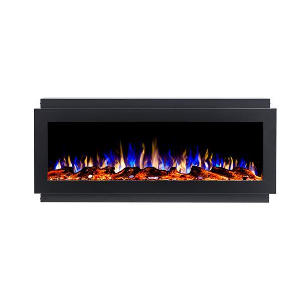 """Foyer électrique encastré à DEL Flamehaus(MD), 50"""", noir"""