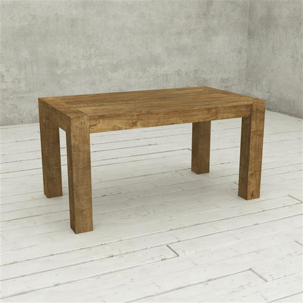 Table de salle à manger Austin en bois massif naturel, 60 po