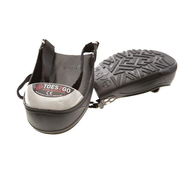 IMPACTO Toes2Go Steel Toe Cap - Black/White - Small