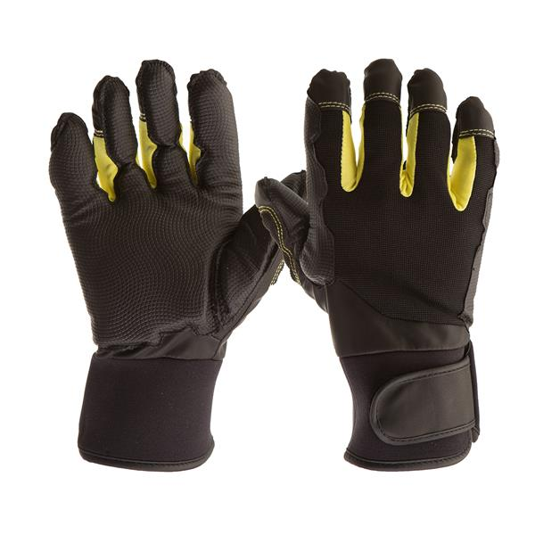 Gants de Mécanicien Antivibrations, noir/jaune, très grand