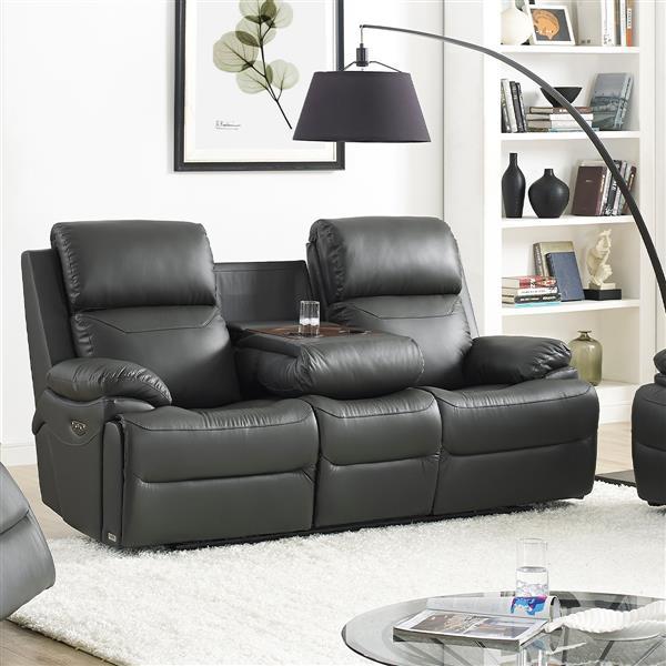 FAMV New York Reclining Sofa - Motorized and USB Ports
