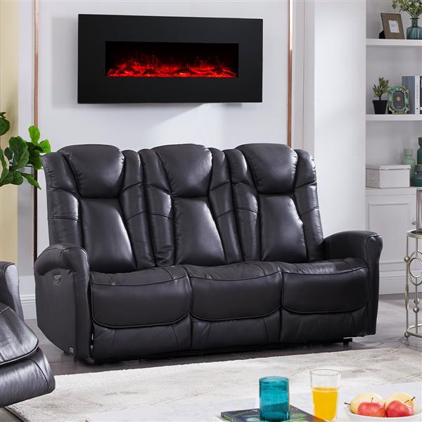 FAMV Limoge Reclining Motorized Sofa - USB Port - Dark Grey