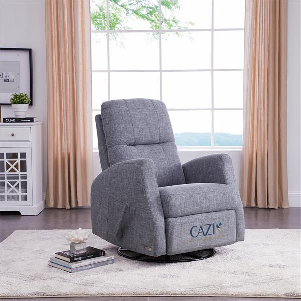 FAMV Athens swivel glider recliner manual chair - Grey